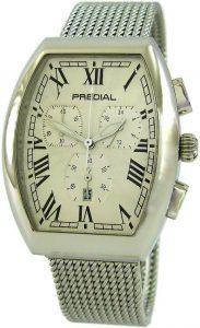 Predial Tonneau Chronograph Milanaise Uhrband poliert