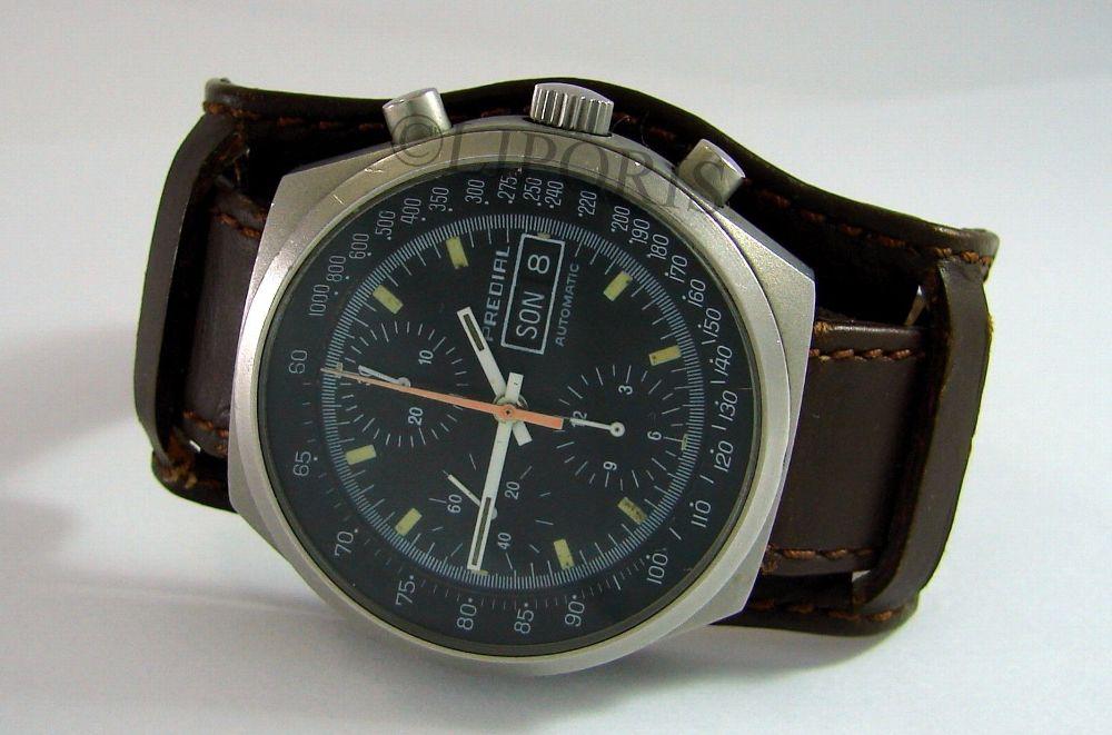Predial Flieger Chrono 7750 mit Bundeswehr Uhrenarmband in Leder