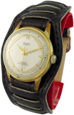 Alma 3 Handaufzug Herrenuhr schwarz gold weiß antik mechanic mens watch 17Jewels