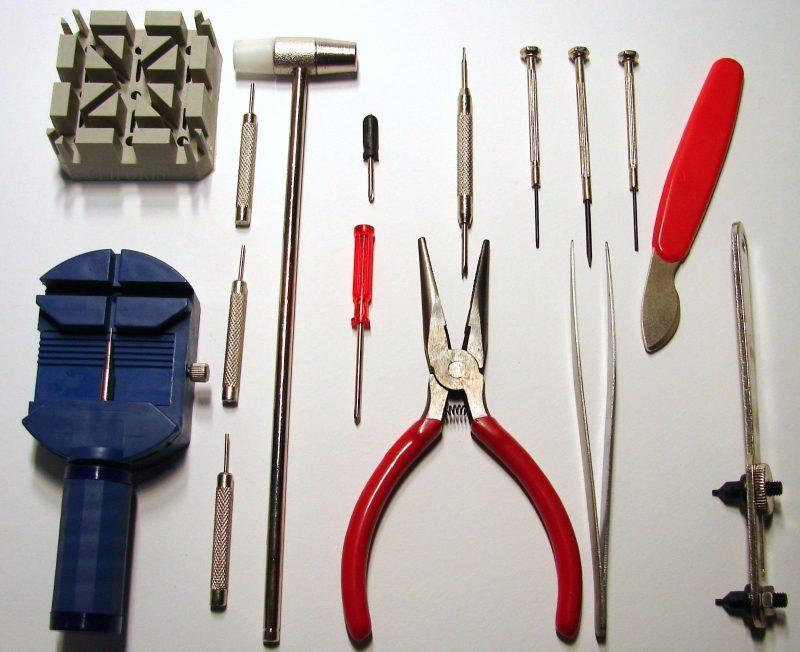 Basis Uhrmacher Werkzeug Set einfaches Uhrmacherwerkzeug Gehäuse Öffner Zange