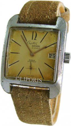 Creation Birthday vintage Herrenuhr rare classic swiss made mens watch 21 Steine