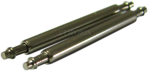 HEKTOR hochwertige extra dünne Federstege Durchmesser 1,2mm 2 Stück Bandanstoß 18, 20 oder 22mm