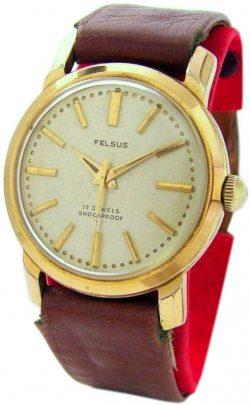Felsus Handaufzug Herrenuhr vintage mens watch mechanical hand winding 17Jewels