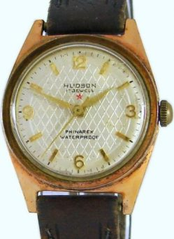 Hudson Phinarex Herrenuhr vintage swiss made mens watch 17 Jewels Werk 125