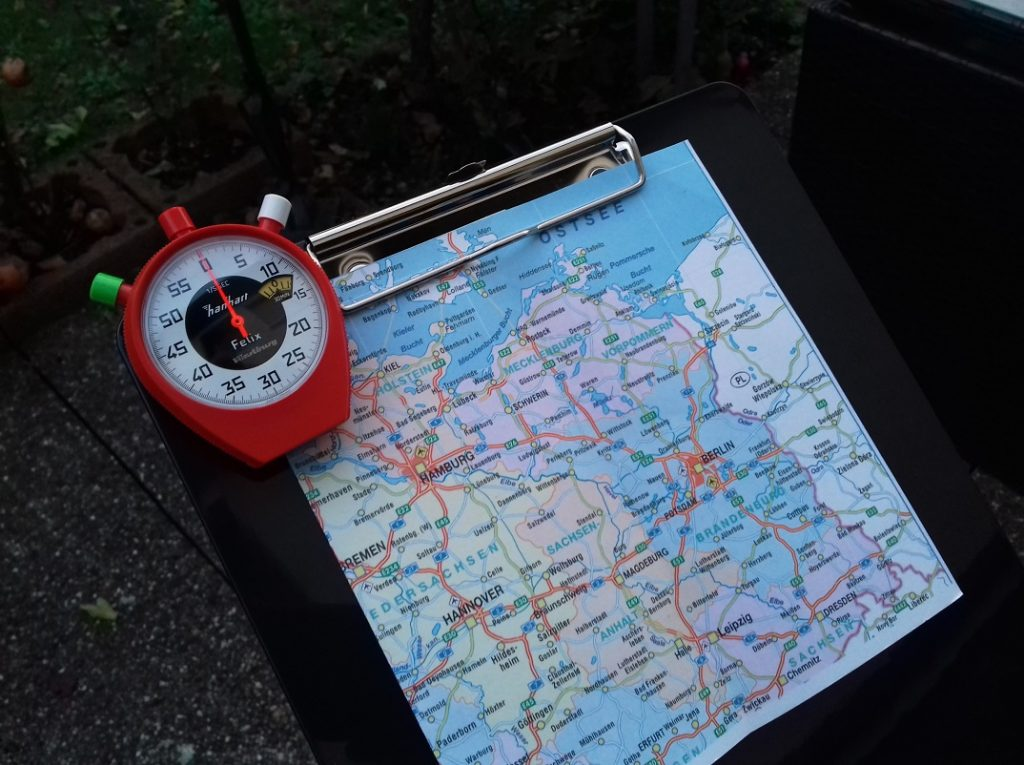 Wartburg Stoppuhr von Hanhart