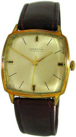 Junghans Herren Armbanduhr Lederband Made in Germany mens watch 17Jewels 687 B5