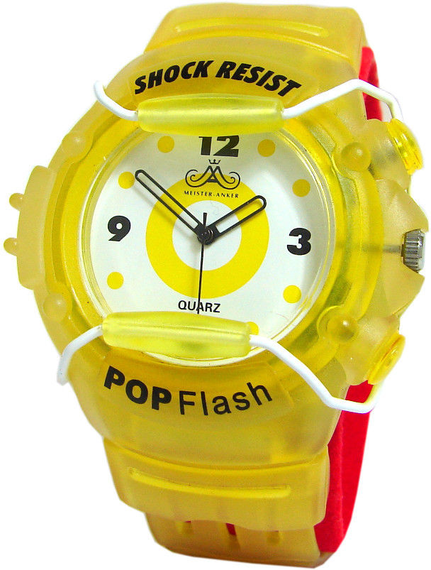Meister Anker pop flash light shock resist unisex Uhr mit Blinkfunktion