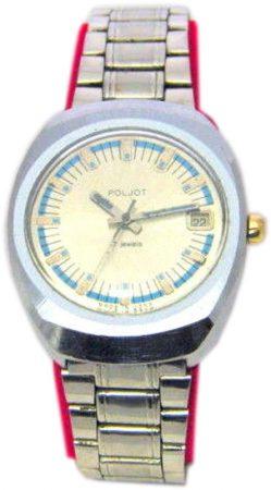 Poljot USSR mechanische russische Herrenuhr blau russian mens watch 17 Jewels