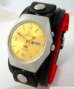 Ricoh Automatic Herrenuhr Tag Datum Automatik Uhr day date men gents watch mechanical 21 Jewels