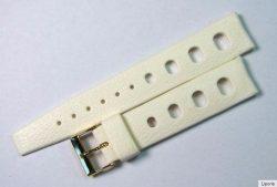 Tropic Sport Kunststoff diver Uhrenband weiß Dornschließe watchstrap white 18mm