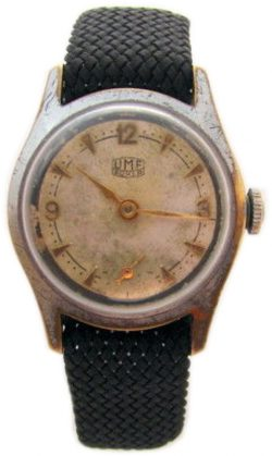 UMF Ruhla Germany DDR Herrenuhr Perlonband kleine Sekunde mens watch Made in GDR 173565609087