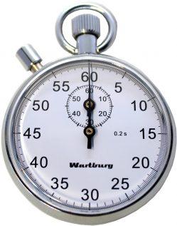 mechanische Minuten Hand Stoppuhr von Wartburg Uhren