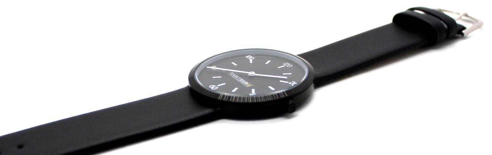 schwarze elegante Unisex Armbanduhr von Wartburg