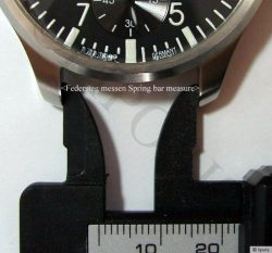 für 17mm,18mm,19mm,20mm,21mm Bandanstöße 2,0mm Durchmesser Bitte bei Bestellung Größe angeben