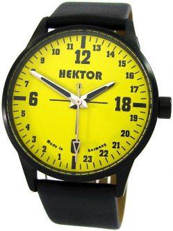 HEKTOR 24h Germany echte 24Stunden Uhr 24 hour watch Herrenuhr schwarz gelb 5ATM