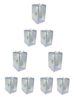 9x Sammel Box klar stapelbar Uhren Sammler Uhrbox Stapelbox watch box ohne Uhr