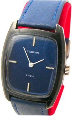 Dugena twen mechanische Herren 17 Jewels 69-2 Uhr men gents wrist watch