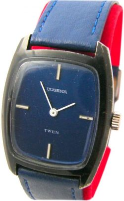 Dugena twen mechanische Herren 17 Jewels 69-2 Uhr men gents wrist watch