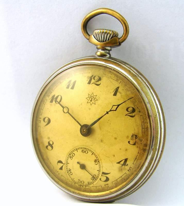 Junghans-Germany-mechanische-Taschenuhr-vintage-mechanical-pocket-watch