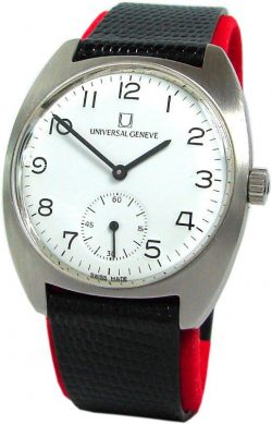 Universal Geneve Handaufzug Swiss Made Armband Uhr emailliertes Ziffernblatt