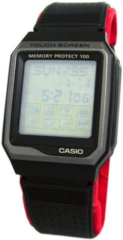 Casio Memory Protect 100 touch screen LCD Uhr vintage men watch 1553 VDB-100