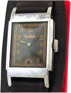 Hanhart Formwerk vintage Herren Armbanduhr classic mens watch art deco Uhr
