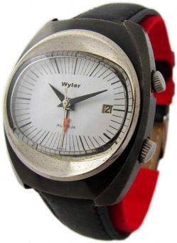 Wyler Wecker Herrenuhr mens watch very rare mechanical alarm watch swiss made