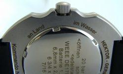 HEKTOR Germany KOMMANDO Herren Quarz Taucheruhr analog Kunststoffband 20ATM