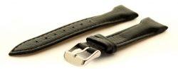 HEKTOR Herren Uhrenarmband aus feinem Hirschleder schwarz mit Polsterung