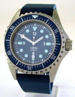 Ruhla NVA Kampfschwimmer Uhr Replika II blau mit original UMF Kaliber 13 66-53