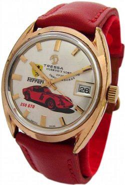 Tressa cuervo y sobrinos swiss made Herrenuhr Handaufzug Motiv Ferrari GTO 250