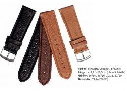 EKTOR Uhrenarmband KURZ Leder pflanzlich gegerbt verschiedene Farben lieferbar von 16mm bis 22mm Bandanstoß