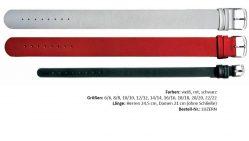 HEKTOR Durchzugs Uhrenarmband verschiedene Farben lieferbar von 6mm bis 22mm Bandanstoß