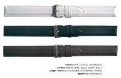 HEKTOR Uhrenarmband superlang verschiedene Farben lieferbar in 14mm, 18mm und 20mm Bandanstoß