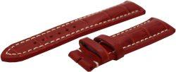 HEKTOR Herren Uhrenband Leder rot Krokoprägung starke Polsterung Anstoß 22mm