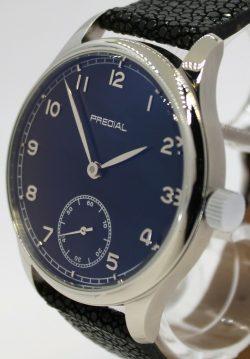 PREDIAL Mechanik Handaufzug Herrenuhr Perlrochen Uhrband GeMatic 17Steine 44mm