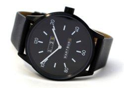 Wartburg 1.3S Herrenuhr Quarz Edelstahl schwarz Lederband Made in Germany 42mm