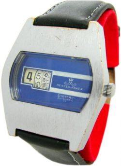 Meister Anker Digital 01 Automatic Herren Scheibenuhr Lederband