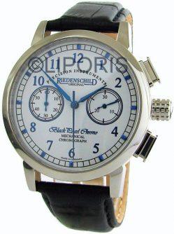 Riedenschild Black Pearl mechanischer Handaufzug Chronograph Herrenuhr 17 Steine