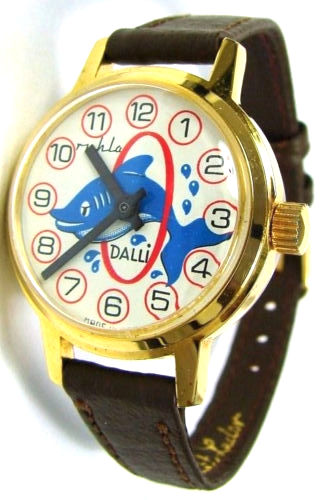 Ruhla Jugend Kinder Armbanduhr Dalli Delphin UMF Handaufzug Uhrwerk