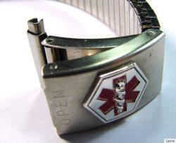 Speidel Edelstahl unisec Uhren Zugband mit Pillendose Teleskop Anstoß 15-19mm