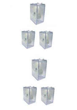 HEKTOR Uhren Sammel Box Kunststoff stapelbar ohne Uhr 6 Stück