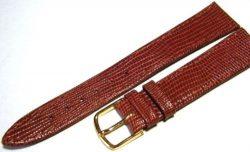 Herren Uhrenarmband Leder braun Teju design vintage NOS Bandanstoß 18mm