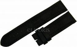 Herren Uhrenarmband schwarz Textil Oberseite Leder unten 22mm