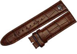 Riedenschild original Herren - Uhrenarmband braun Leder Kroko-Prägung 20mm