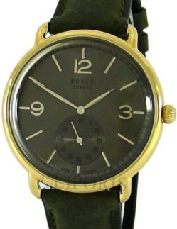 Ruhla Classic Quarz Herrenuhr bicolor Leder kleine Sekunde Made in Germany 42mm