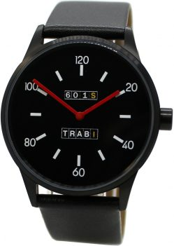 Trabi 601S Quarz Herrenuhr Made in Germany Edelstahl Lederband schwarz