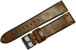 Uhrenarmband creme braun Uhrenband watch strap vintage horse leather brown 22mm