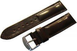 Uhrenband Horween shell cordovan oxblood Pferde Leder braun Dornschließe 18mm