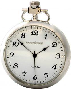 Wartburg Klassik Quarz Taschenuhr 474 Lepine für Herren Zifferblatt weiß 48mm